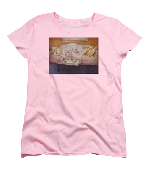 Lucky Couch Women's T-Shirt (Standard Cut) by Duane R Probus