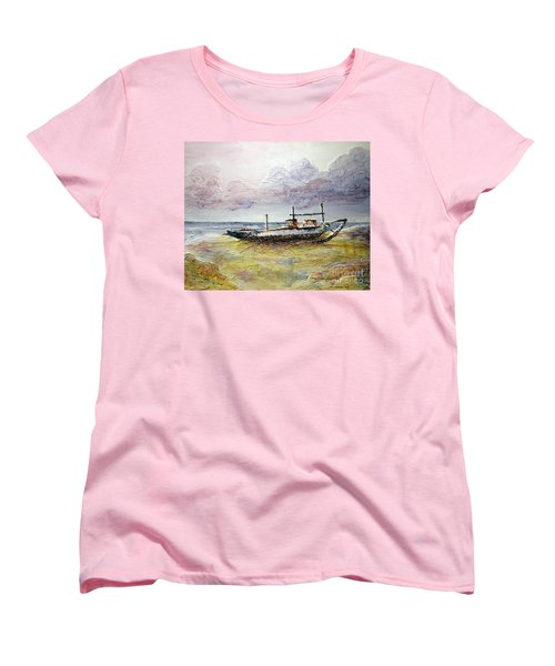 Women's T-Shirt (Standard Cut) featuring the painting After The Storm by Joey Agbayani
