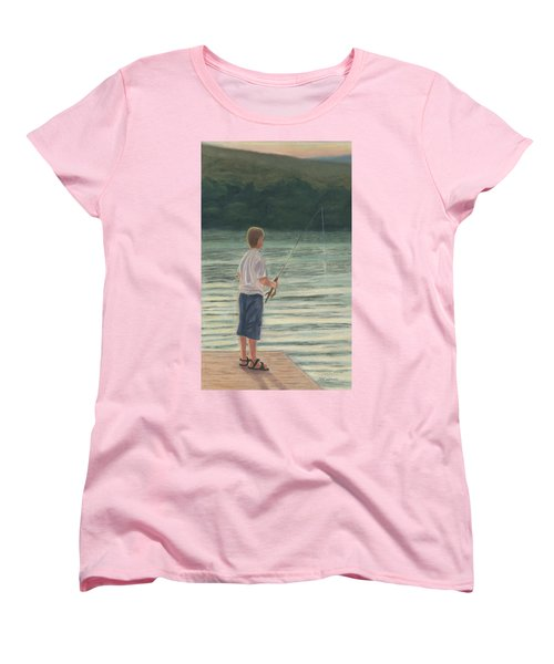 Women's T-Shirt (Standard Cut) featuring the painting All Day Long by Arlene Crafton