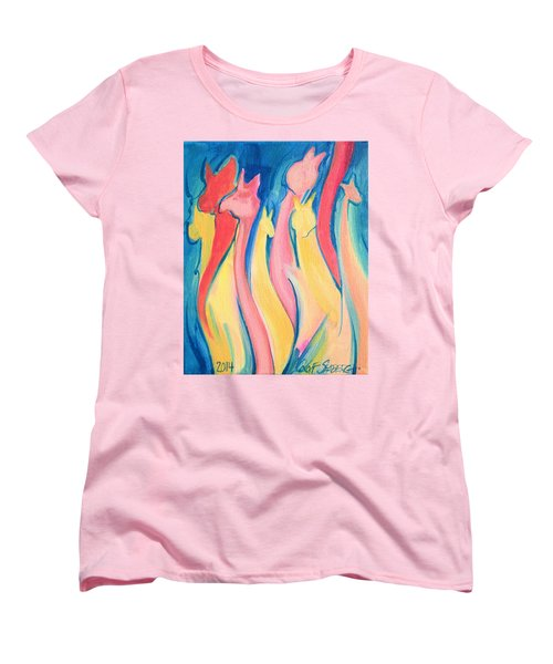 Alpaca Flames Women's T-Shirt (Standard Cut)