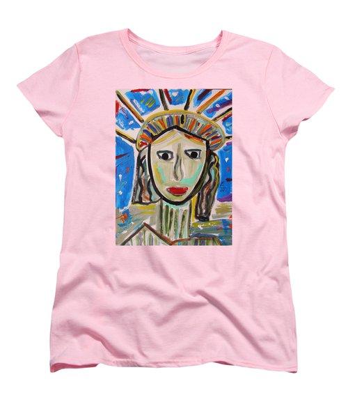 American Lady Women's T-Shirt (Standard Cut) by Mary Carol Williams