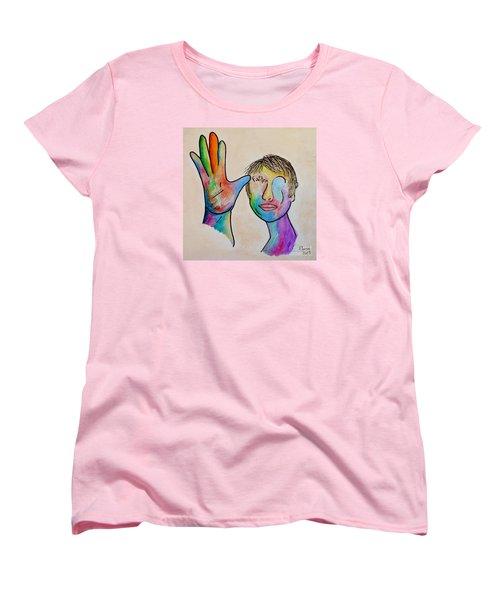 American Sign Language  Father Women's T-Shirt (Standard Cut) by Eloise Schneider