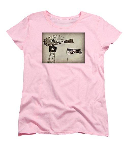Americana Women's T-Shirt (Standard Cut) by Chris Berry