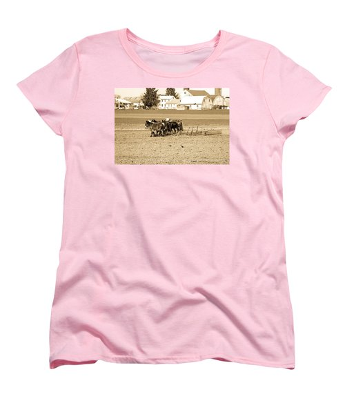 Amish Farm Women's T-Shirt (Standard Cut) by Menachem Ganon