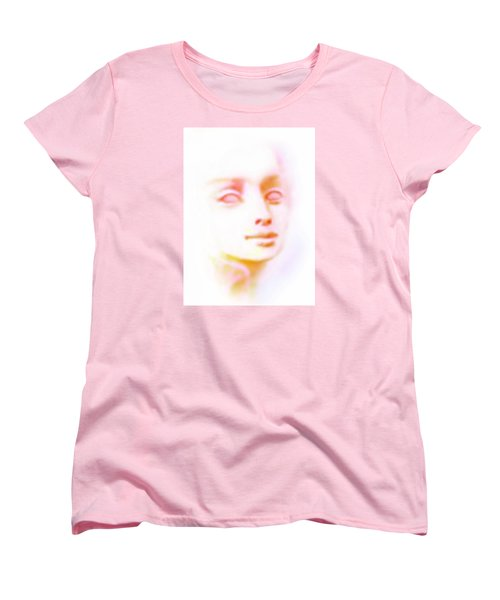 Women's T-Shirt (Standard Cut) featuring the painting Angel Angel Oh So Bright by Hartmut Jager