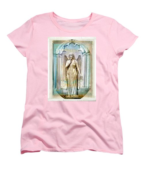 Angel Of Silence.genoa Women's T-Shirt (Standard Cut) by Jennie Breeze