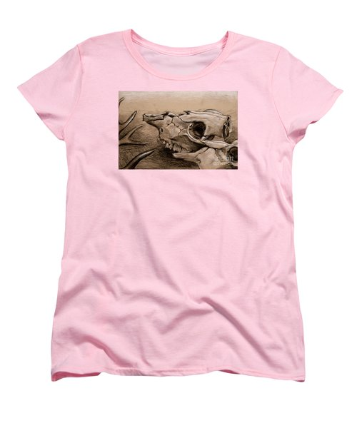 Animal Bones Women's T-Shirt (Standard Cut) by Samantha Geernaert