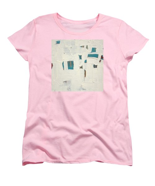 Women's T-Shirt (Standard Cut) featuring the painting Aqueous  C2013 by Paul Ashby