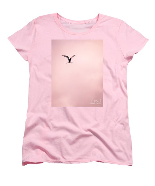 Women's T-Shirt (Standard Cut) featuring the photograph Artic Tern High In The Sky by Peta Thames
