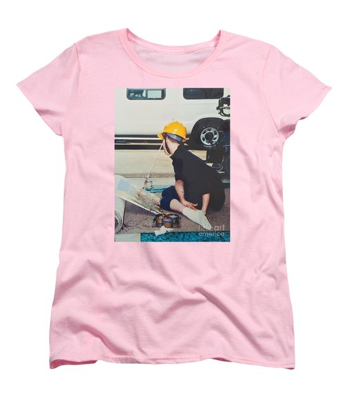 Women's T-Shirt (Standard Cut) featuring the painting Artist At 16 Yrs Old by Donald J Ryker III