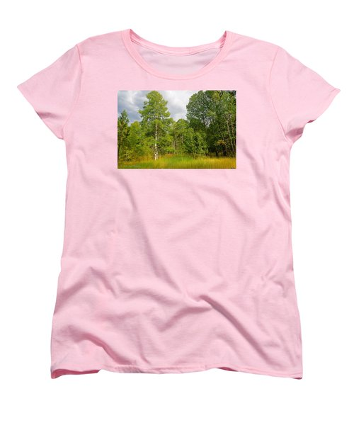 Women's T-Shirt (Standard Cut) featuring the photograph Aspen And Others by Jim Thompson