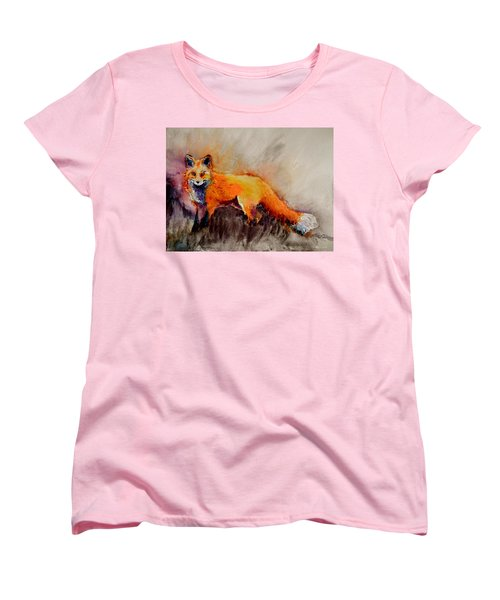Women's T-Shirt (Standard Cut) featuring the painting Assessing The Situation by Beverley Harper Tinsley