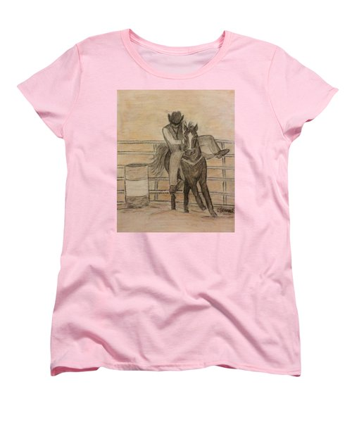 At The Rodeo Women's T-Shirt (Standard Cut) by Christy Saunders Church