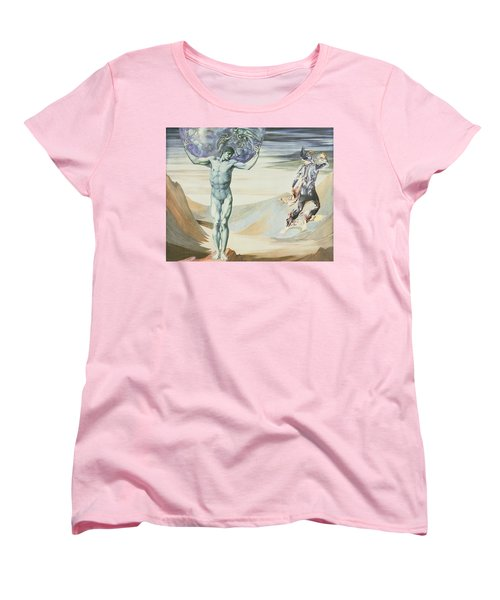 Atlas Turned To Stone, C.1876 Women's T-Shirt (Standard Cut) by Sir Edward Coley Burne-Jones