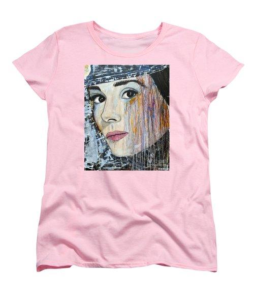 Audrey Hepburn-abstract Women's T-Shirt (Standard Cut) by Ismeta Gruenwald