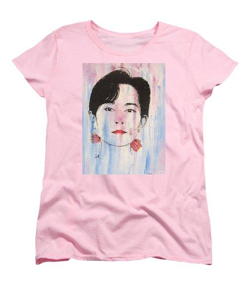 Aung San Suu Kyi Women's T-Shirt (Standard Cut) by Roberto Prusso