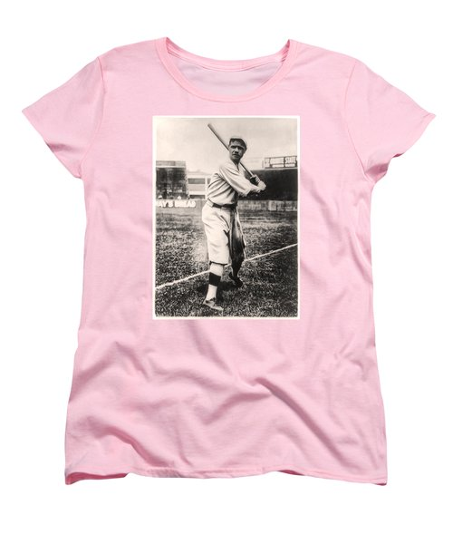 Babe Ruth Women's T-Shirt (Standard Cut) by Bill Cannon
