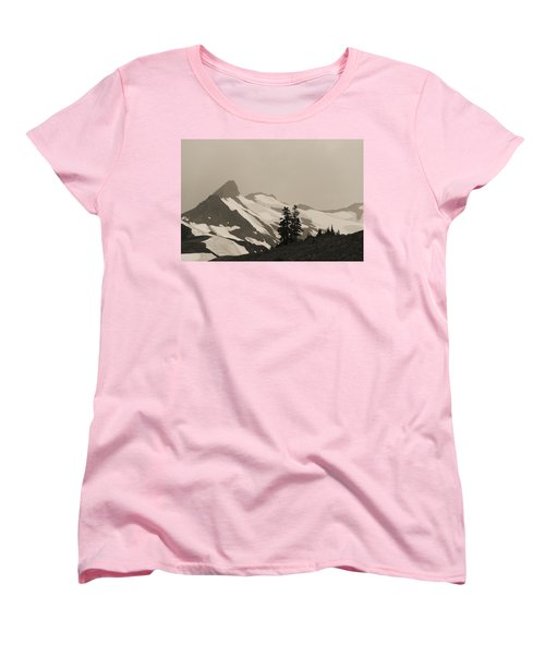Women's T-Shirt (Standard Cut) featuring the photograph Fog In Mountains by Yulia Kazansky
