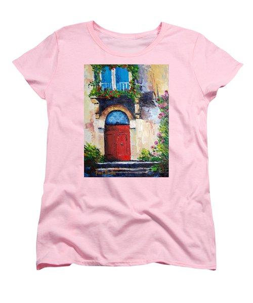 Balcony Women's T-Shirt (Standard Cut) by Janet Garcia
