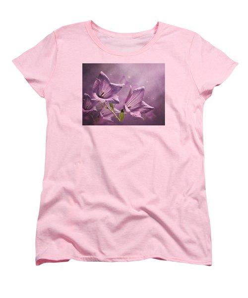 Balloon Flowers Women's T-Shirt (Standard Cut) by Ann Lauwers