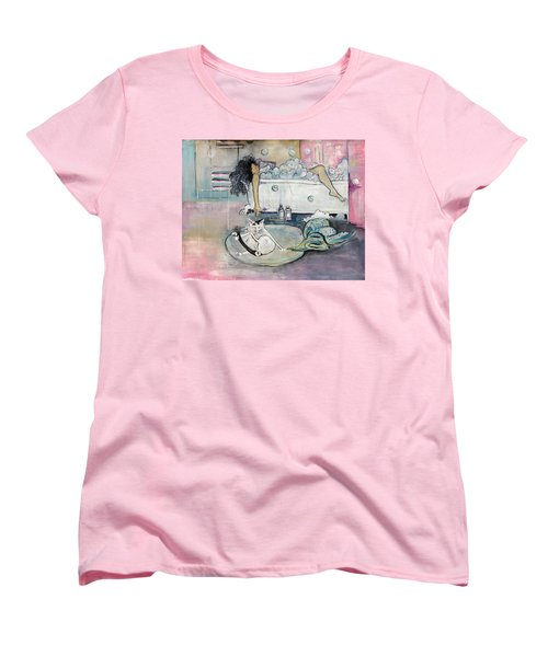 Bath Time Women's T-Shirt (Standard Cut) by Leela Payne