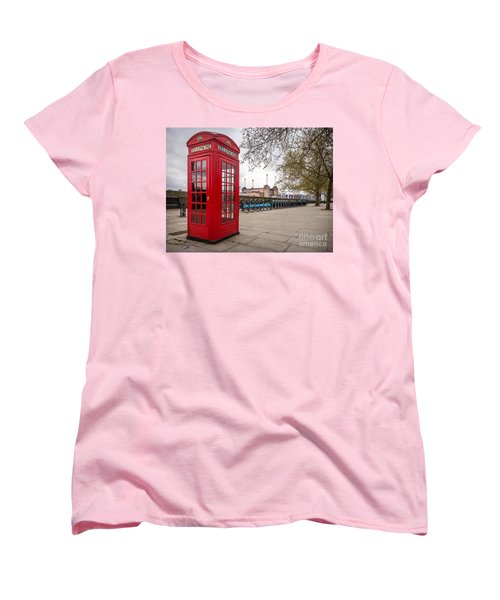 Battersea Phone Box Women's T-Shirt (Standard Cut) by Matt Malloy