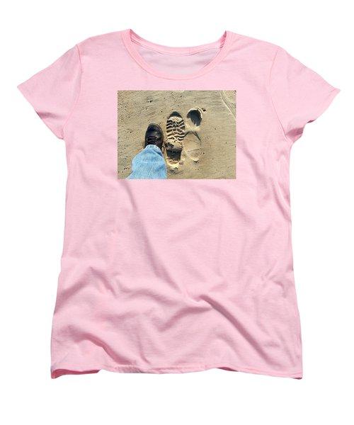 Beach Of Big Feet Women's T-Shirt (Standard Cut) by Lon Casler Bixby