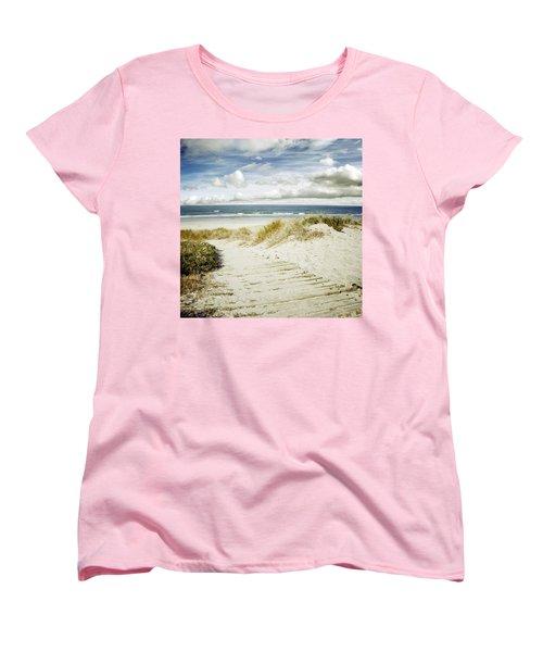 Beach View Women's T-Shirt (Standard Cut) by Les Cunliffe
