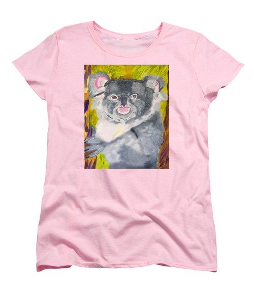 Koala Hug Women's T-Shirt (Standard Cut) by Meryl Goudey