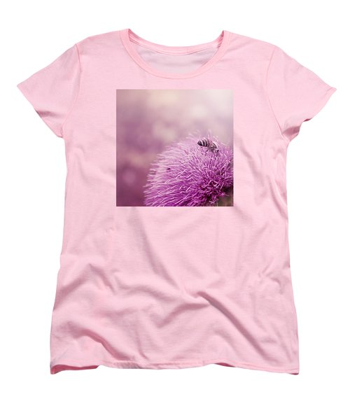 Beauty And The Bee Women's T-Shirt (Standard Cut) by Trish Mistric