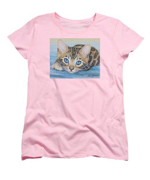 Bengal Kitten Women's T-Shirt (Standard Cut) by Jane Girardot