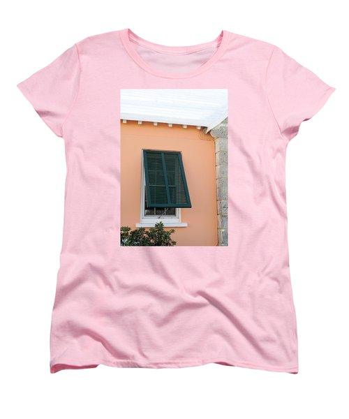 Bermuda Shutters Women's T-Shirt (Standard Cut) by Ian  MacDonald