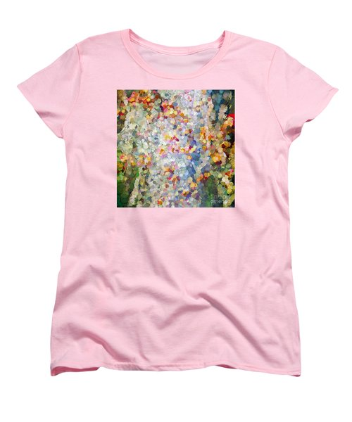 Berries Around The Tree - Abstract Art Women's T-Shirt (Standard Cut) by Kerri Farley