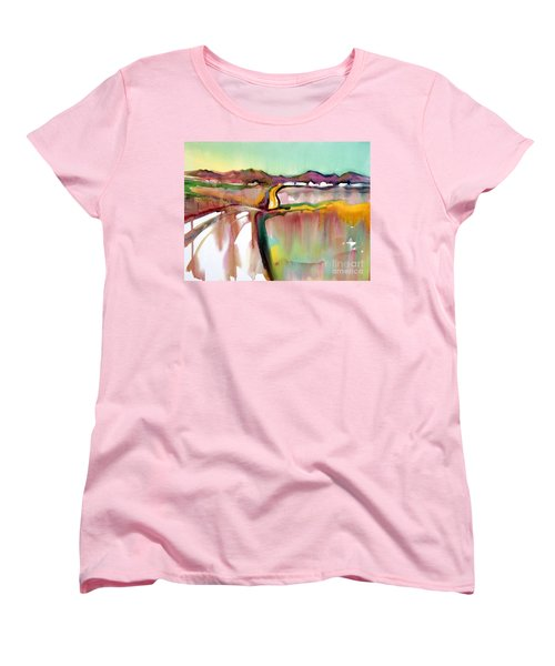 Women's T-Shirt (Standard Cut) featuring the painting Bethel Road by Teresa Ascone