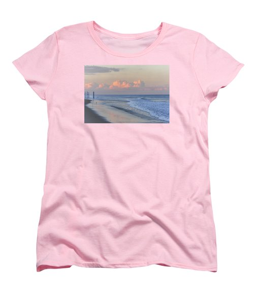 Better Days Ahead Seaside Heights Nj Women's T-Shirt (Standard Cut) by Terry DeLuco