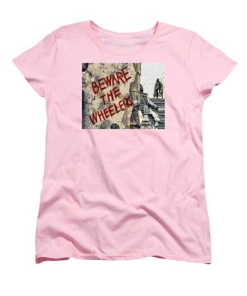 Beware The Wheelers Women's T-Shirt (Standard Cut) by Joe Misrasi