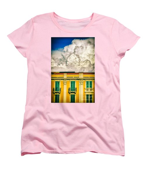 Women's T-Shirt (Standard Cut) featuring the photograph Big Cloud Over City Building by Silvia Ganora