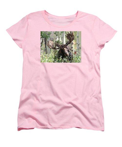 Big Daddy The Moose 3 Women's T-Shirt (Standard Cut) by Fiona Kennard