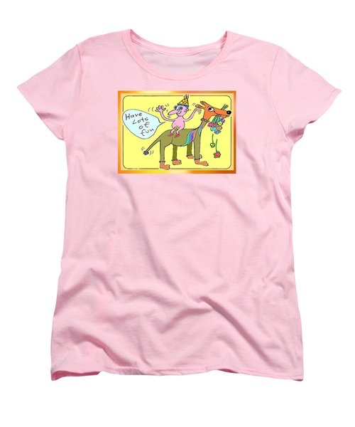 Women's T-Shirt (Standard Cut) featuring the painting Bit Of Fun by Hartmut Jager