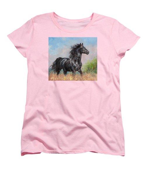 Black Stallion Women's T-Shirt (Standard Cut)