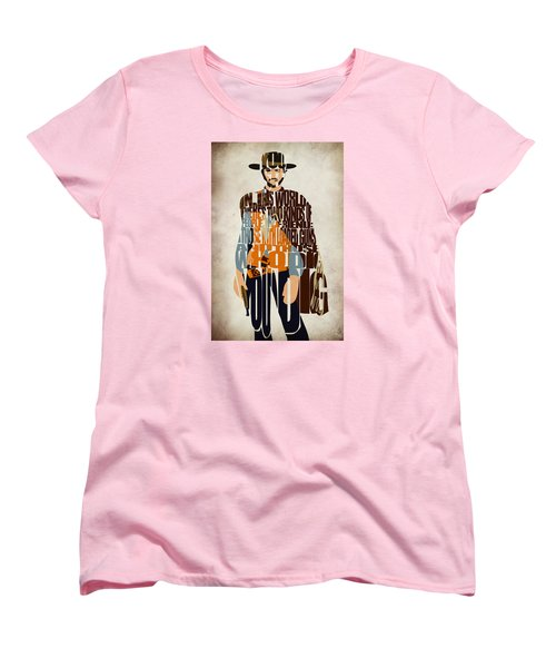 Blondie Poster From The Good The Bad And The Ugly Women's T-Shirt (Standard Cut) by Ayse Deniz