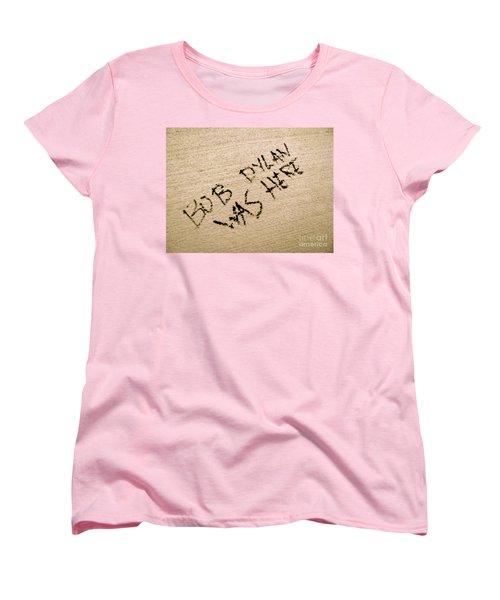 Bob Dylan Graffiti Women's T-Shirt (Standard Cut) by Jacqueline Athmann