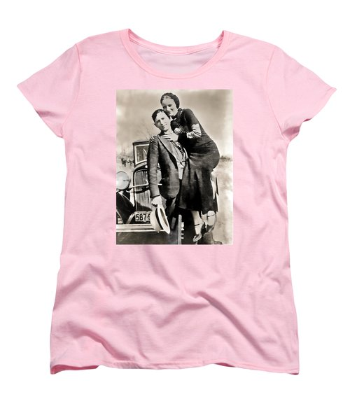 Bonnie And Clyde - Texas Women's T-Shirt (Standard Cut) by Daniel Hagerman