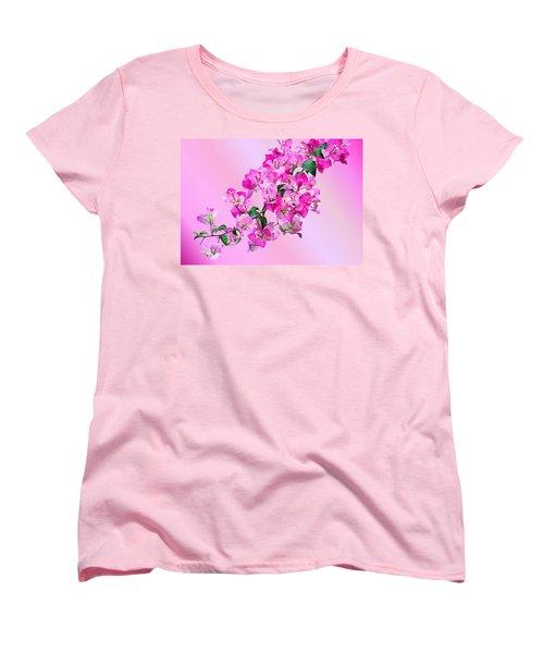 Bougainvillea Women's T-Shirt (Standard Cut) by Kristin Elmquist