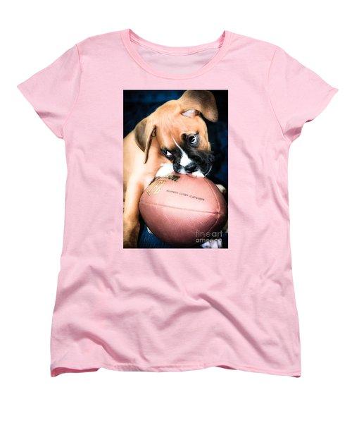 Boxer Puppy Cuteness Women's T-Shirt (Standard Cut)