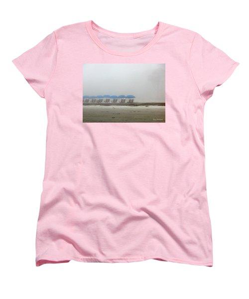 Women's T-Shirt (Standard Cut) featuring the photograph 'brella Pattern by Kay Lovingood