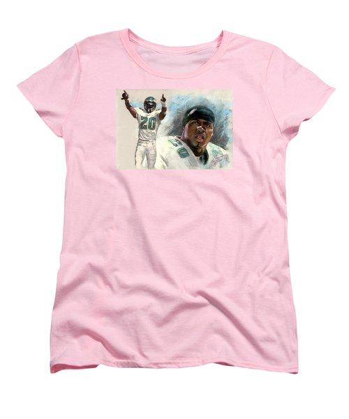 Women's T-Shirt (Standard Cut) featuring the drawing Brian Dawkins by Viola El