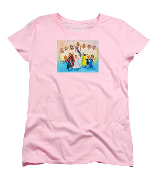 Women's T-Shirt (Standard Cut) featuring the painting Bridal Invitation by Cassie Sears