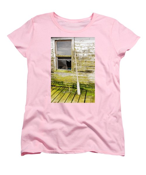 Women's T-Shirt (Standard Cut) featuring the photograph Broken Window by Mary Carol Story