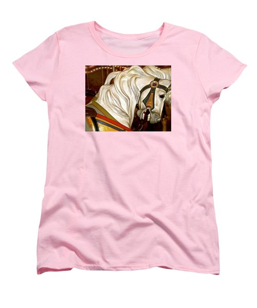 Women's T-Shirt (Standard Cut) featuring the photograph Brooklyn Hobby Horse by Joan Reese
